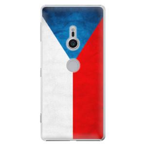 Plastové pouzdro iSaprio Česká Vlajka na mobil Sony Xperia XZ2