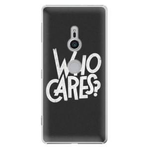 Plastové pouzdro iSaprio Who Cares na mobil Sony Xperia XZ2