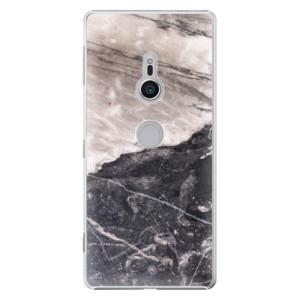 Plastové pouzdro iSaprio BW Mramor na mobil Sony Xperia XZ2