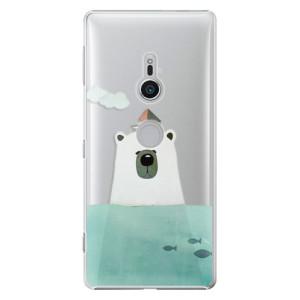 Plastové pouzdro iSaprio Medvěd s Lodí na mobil Sony Xperia XZ2