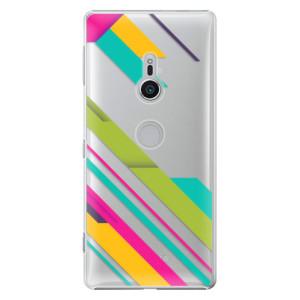 Plastové pouzdro iSaprio Barevné Pruhy 03 na mobil Sony Xperia XZ2