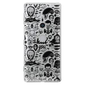Plastové pouzdro iSaprio Komiks 01 black na mobil Sony Xperia XZ2