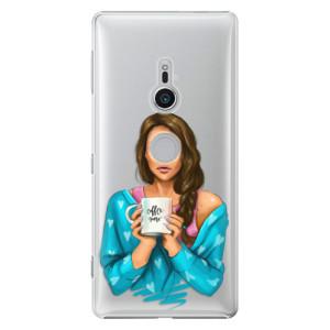 Plastové pouzdro iSaprio Coffee Now Brunetka na mobil Sony Xperia XZ2