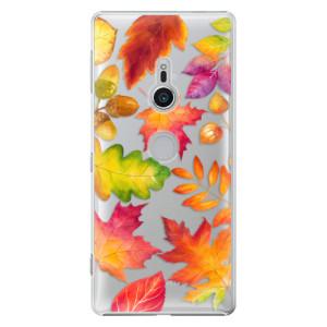 Plastové pouzdro iSaprio Podzimní Lístečky na mobil Sony Xperia XZ2