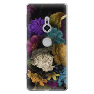 Plastové pouzdro iSaprio Temné Květy na mobil Sony Xperia XZ2