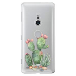 Plastové pouzdro iSaprio Kaktusy 01 na mobil Sony Xperia XZ2