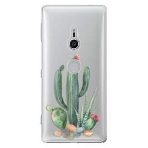 Plastové pouzdro iSaprio Kaktusy 02 na mobil Sony Xperia XZ2
