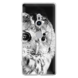 Plastové pouzdro iSaprio BW Sova na mobil Sony Xperia XZ2