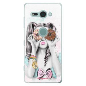 Plastové pouzdro iSaprio Donutky Očiska 10 na mobil Sony Xperia XZ2 Compact