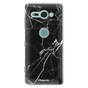 Plastové pouzdro iSaprio Black Marble 18 na mobil Sony Xperia XZ2 Compact