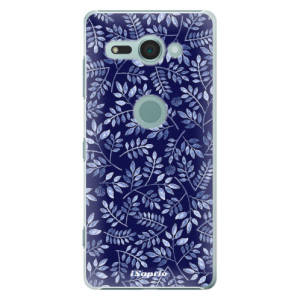 Plastové pouzdro iSaprio Blue Leaves 05 na mobil Sony Xperia XZ2 Compact