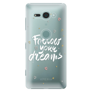 Plastové pouzdro iSaprio Follow Your Dreams bílý na mobil Sony Xperia XZ2 Compact