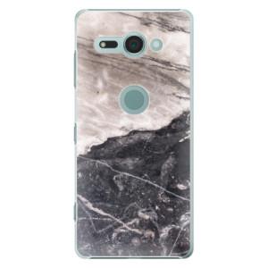 Plastové pouzdro iSaprio BW Mramor na mobil Sony Xperia XZ2 Compact