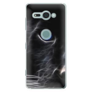 Plastové pouzdro iSaprio Black Puma na mobil Sony Xperia XZ2 Compact