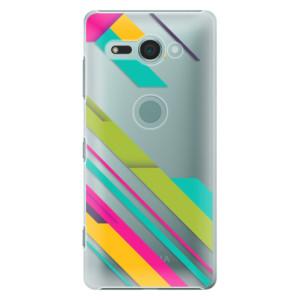 Plastové pouzdro iSaprio Barevné Pruhy 03 na mobil Sony Xperia XZ2 Compact