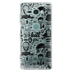 Plastové pouzdro iSaprio Komiks 01 black na mobil Sony Xperia XZ2 Compact