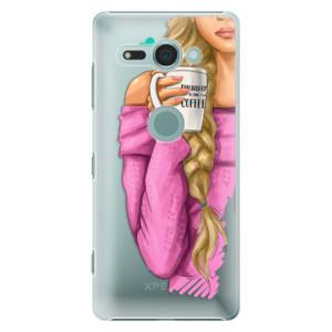 Plastové pouzdro iSaprio Blondýnka s kafčem na mobil Sony Xperia XZ2 Compact