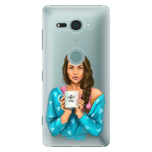 Plastové pouzdro iSaprio Coffee Now Brunetka na mobil Sony Xperia XZ2 Compact