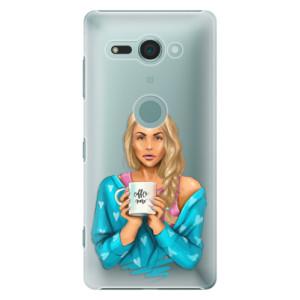 Plastové pouzdro iSaprio Coffee Now Blondýna na mobil Sony Xperia XZ2 Compact