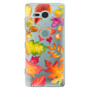 Plastové pouzdro iSaprio Podzimní Lístečky na mobil Sony Xperia XZ2 Compact