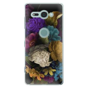 Plastové pouzdro iSaprio Temné Květy na mobil Sony Xperia XZ2 Compact