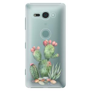 Plastové pouzdro iSaprio Kaktusy 01 na mobil Sony Xperia XZ2 Compact