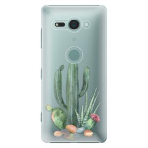 Plastové pouzdro iSaprio Kaktusy 02 na mobil Sony Xperia XZ2 Compact