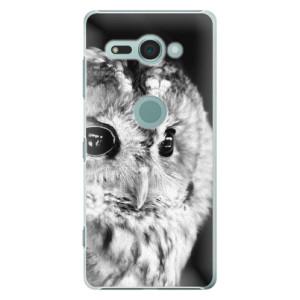 Plastové pouzdro iSaprio BW Sova na mobil Sony Xperia XZ2 Compact
