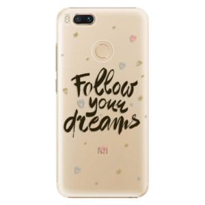 Plastové pouzdro iSaprio Follow Your Dreams černý na mobil Xiaomi Mi A1