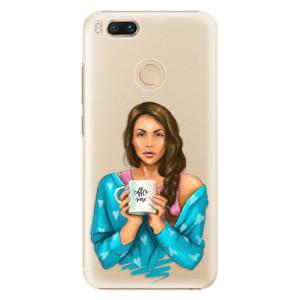 Plastové pouzdro iSaprio Coffee Now Brunetka na mobil Xiaomi Mi A1