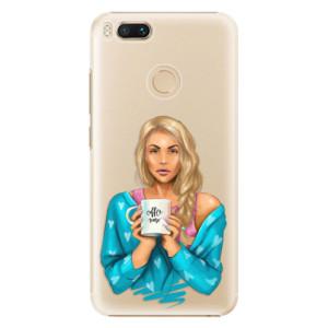 Plastové pouzdro iSaprio Coffee Now Blondýna na mobil Xiaomi Mi A1