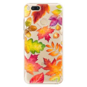 Plastové pouzdro iSaprio Podzimní Lístečky na mobil Xiaomi Mi A1