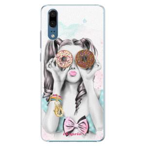 Plastové pouzdro iSaprio Donutky Očiska 10 na mobil Huawei P20