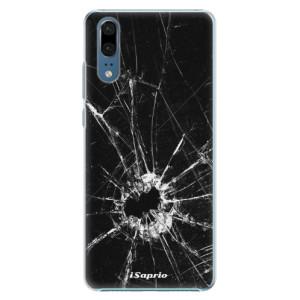 Plastové pouzdro iSaprio Broken Glass 10 na mobil Huawei P20