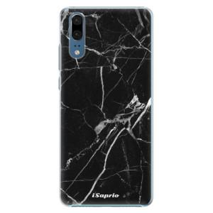 Plastové pouzdro iSaprio Black Marble 18 na mobil Huawei P20