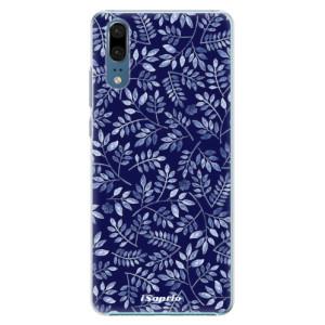 Plastové pouzdro iSaprio Blue Leaves 05 na mobil Huawei P20