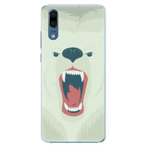 Plastové pouzdro iSaprio Naštvanej Medvěd na mobil Huawei P20