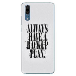 Plastové pouzdro iSaprio Backup Plan na mobil Huawei P20