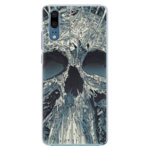 Plastové pouzdro iSaprio Abstract Skull na mobil Huawei P20