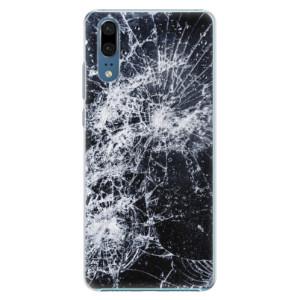 Plastové pouzdro iSaprio Praskliny na mobil Huawei P20