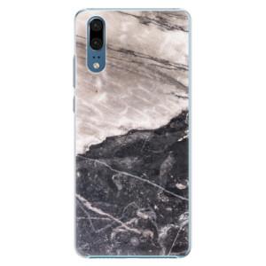 Plastové pouzdro iSaprio BW Mramor na mobil Huawei P20