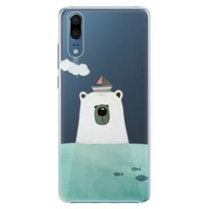 Plastové pouzdro iSaprio Medvěd s Lodí na mobil Huawei P20