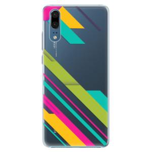 Plastové pouzdro iSaprio Barevné Pruhy 03 na mobil Huawei P20