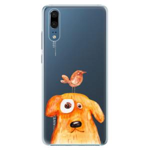 Plastové pouzdro iSaprio Pejsek a Ptáček na mobil Huawei P20