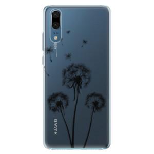 Plastové pouzdro iSaprio Tři Černé Pampelišky na mobil Huawei P20
