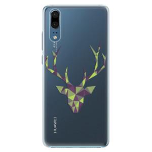 Plastové pouzdro iSaprio Zelený Jelínek na mobil Huawei P20