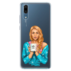 Plastové pouzdro iSaprio Coffee Now Zrzka na mobil Huawei P20