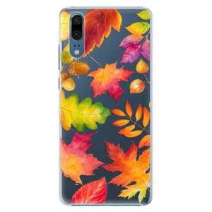 Plastové pouzdro iSaprio Podzimní Lístečky na mobil Huawei P20