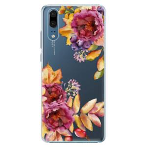 Plastové pouzdro iSaprio Podzimní Květiny na mobil Huawei P20