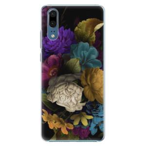 Plastové pouzdro iSaprio Temné Květy na mobil Huawei P20